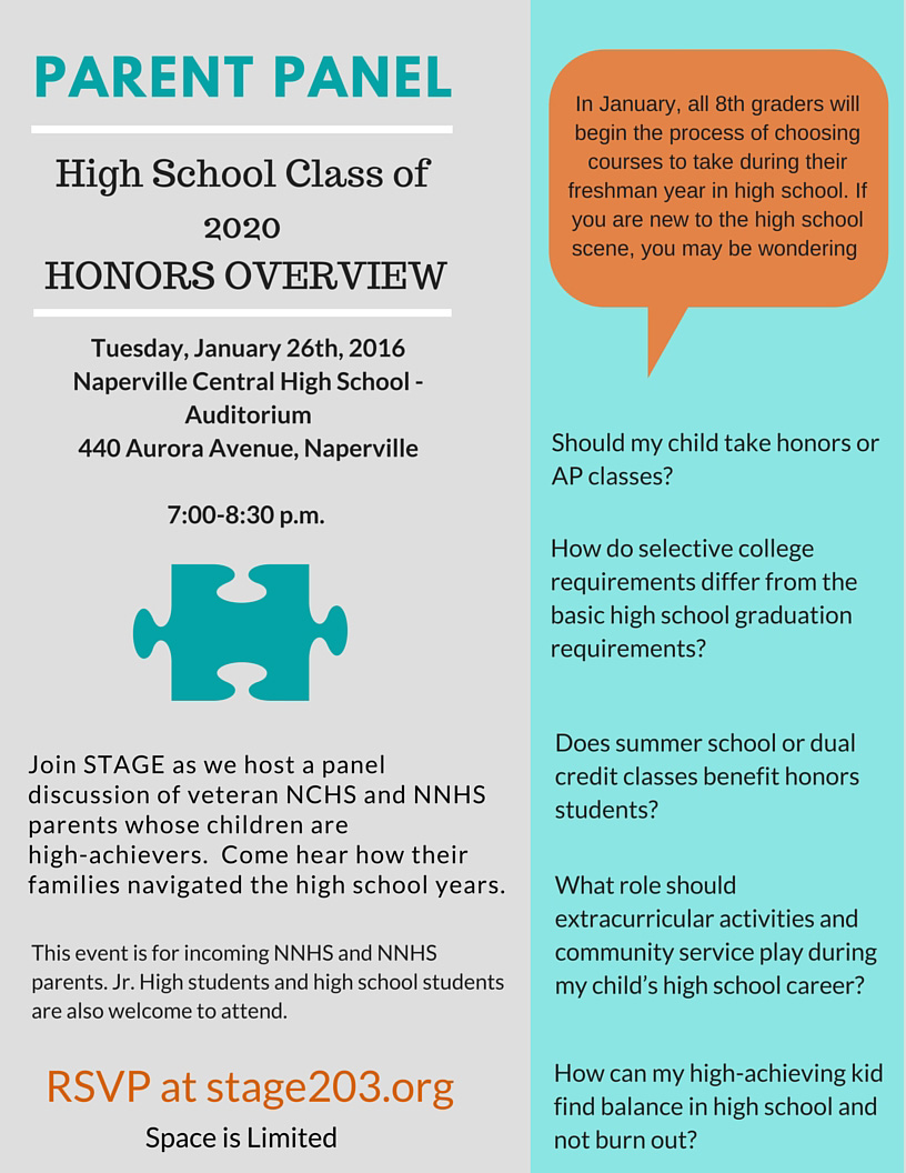 2016 Honors Overview- Parent Panel
