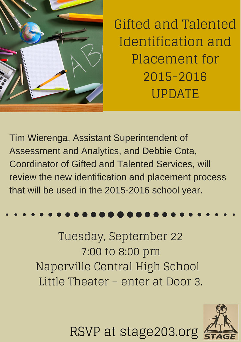 Gifted and Talented Identification Placement Update